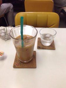 Neccoカフェのアイスコーヒー