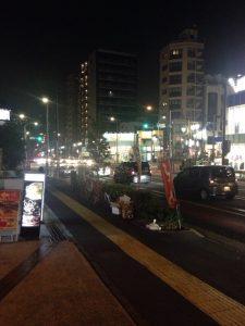 馬場口交差点の夜景