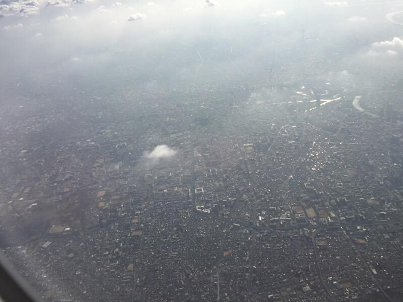 【復路】ANA26便から眺める昼過ぎの大阪の光景