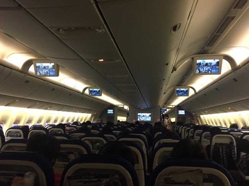 ANA985便の機内 その1