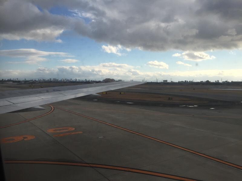 タキシング中のANA028便から眺める光景(その1)