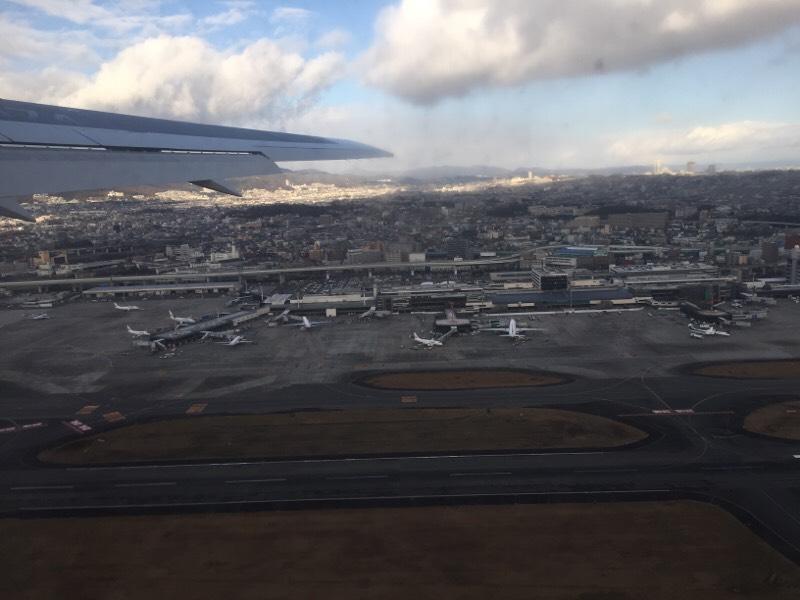 テイクオフ直後のANA028便から眺める光景(その1)