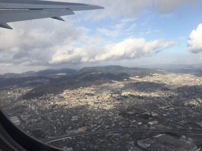 テイクオフ直後のANA028便から眺める光景(その2)