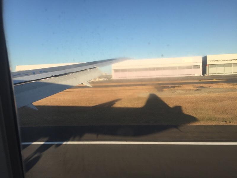 着陸直前のANA028便から眺める光景(その2)