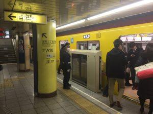 東京メトロ銀座線 三越前駅 ホームドア