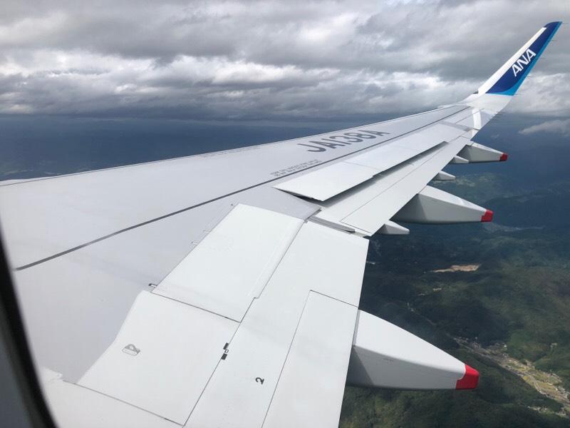 ANA677便・機内からの眺め