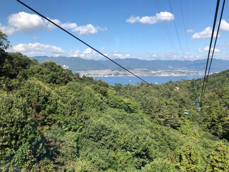 宮島ロープウェー 紅葉谷線からの眺め