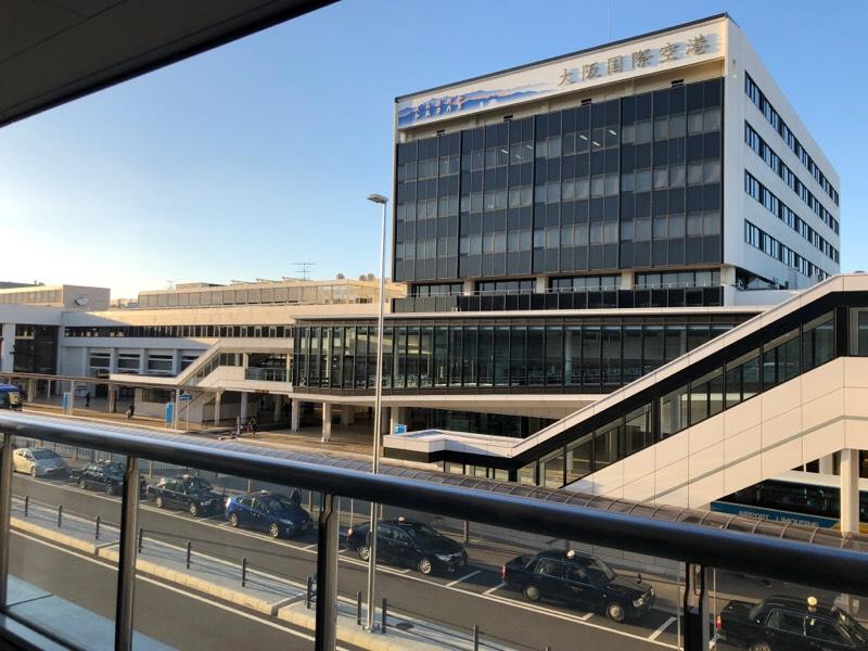 伊丹空港に到着