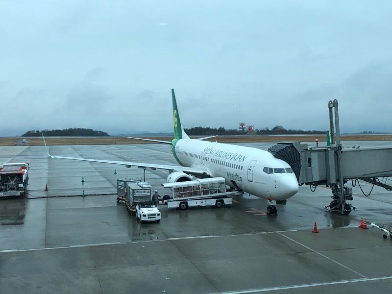 到着後の春秋航空621便