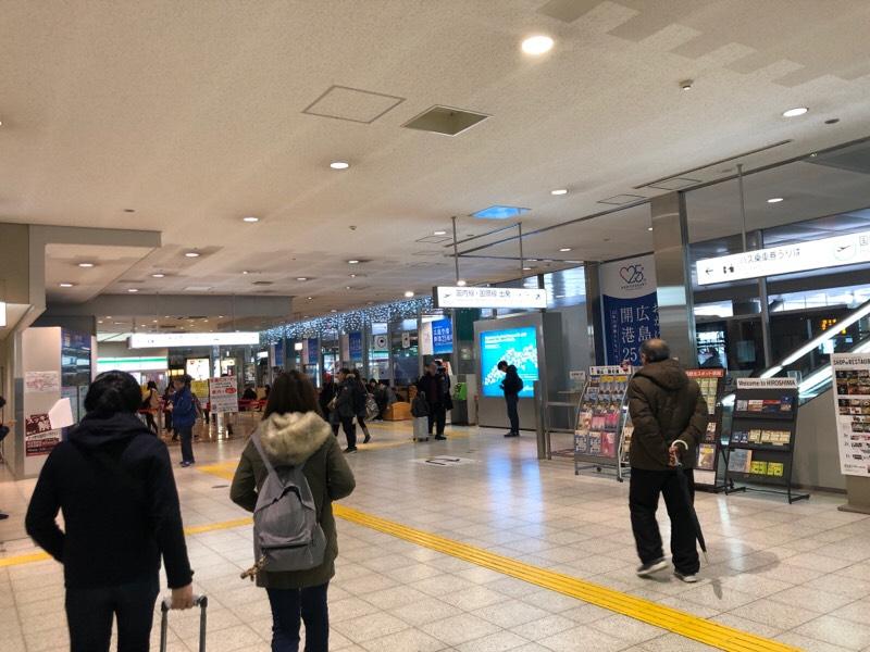 広島空港の到着ロビー