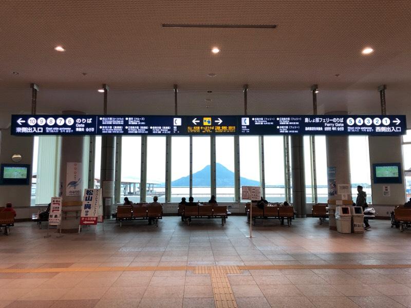 広島港宇品旅客ターミナル内