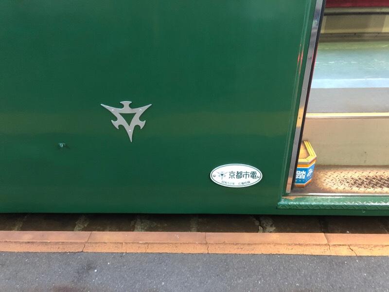 元京都市電の路面電車 側面