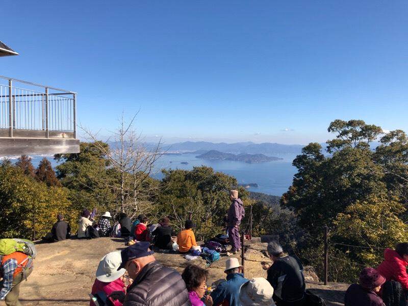 弥山山頂からの光景