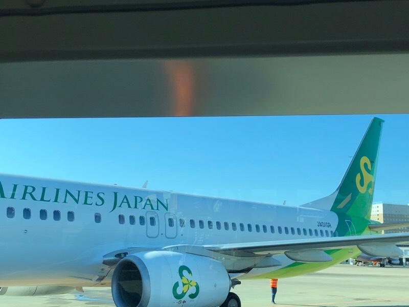到着後の春秋航空622便