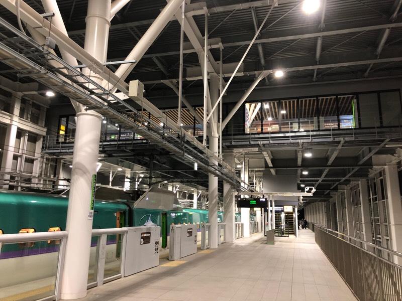 新函館北斗駅 新幹線ホーム
