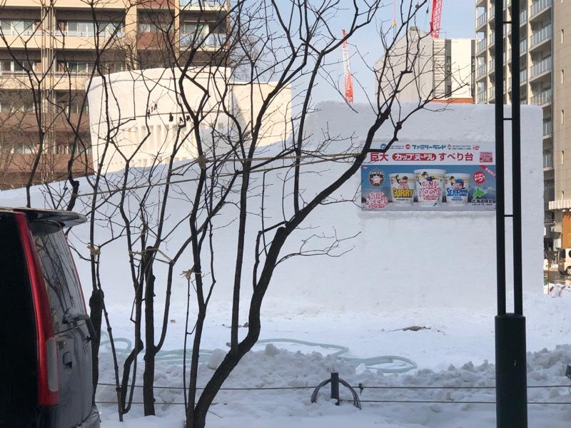 さっぽろ雪まつり 準備光景